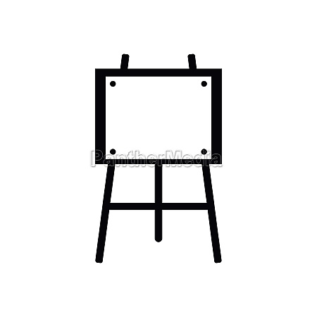 wooden easel icon simple style