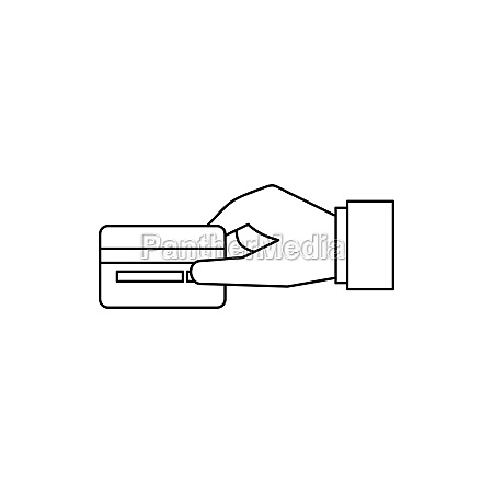 hand holding a credit card icon