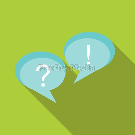 speech bubbles with question and exclamation