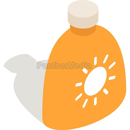 cream sun protection icon isometric 3d