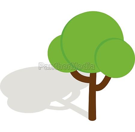 tree icon isometric 3d style