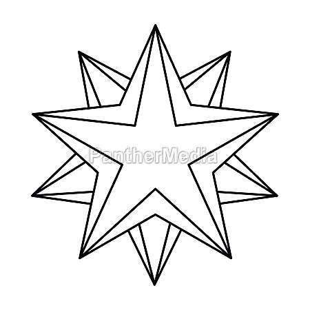 star icon outline style