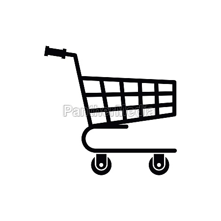 shopping cart icon simple style