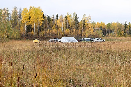 view of a hunters camp from