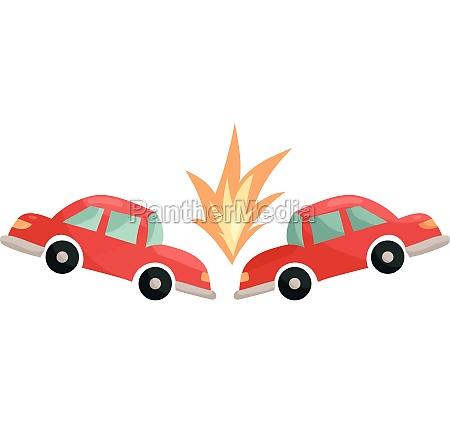 car accident icon cartoon style