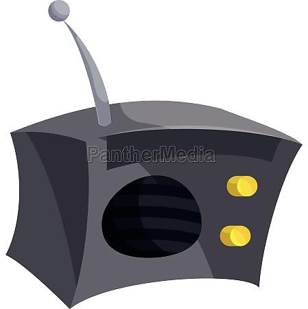 radio icon cartoon style