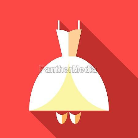 wedding dress icon flat style