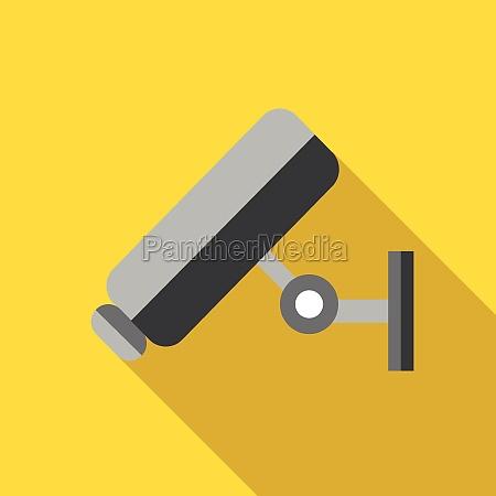 video surveillance camera icon flat style