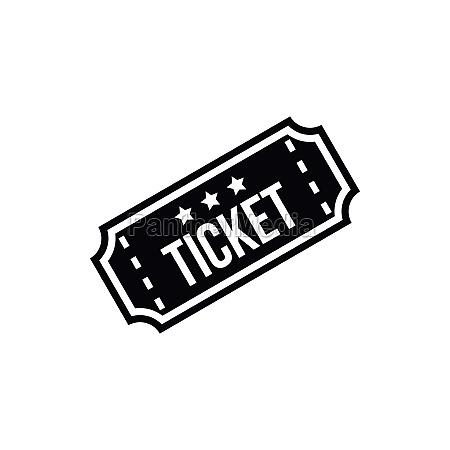 movie ticket icon simple style