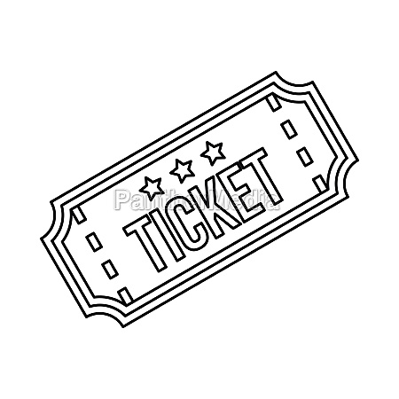 ticket icon in outline style
