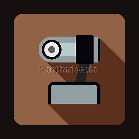 webcam icon in flat style