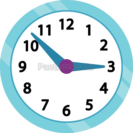 wall clock with blue rim icon