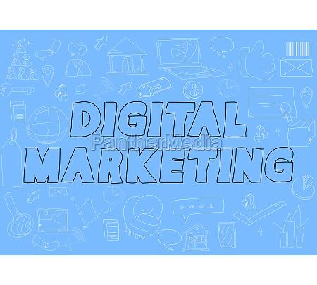 doodle digital marketing words