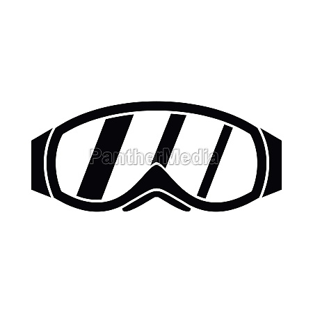 glasses for snowboarding icon simple style