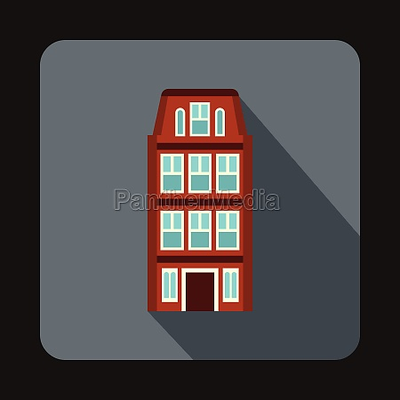 dutch houses icon flat style