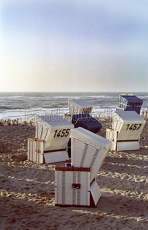 beach chairs on sylt