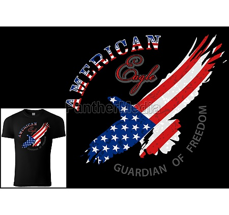 t shirt design american eagle on
