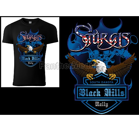 t shirt design sturgis with bald