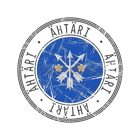 ahtari city postal rubber stamp