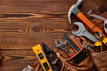 professional workshop tools macro view