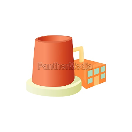 factory with cylinder to store chemicals