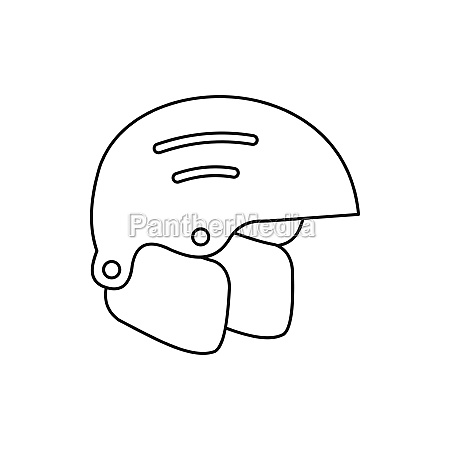 snowboard helmets icon outline style
