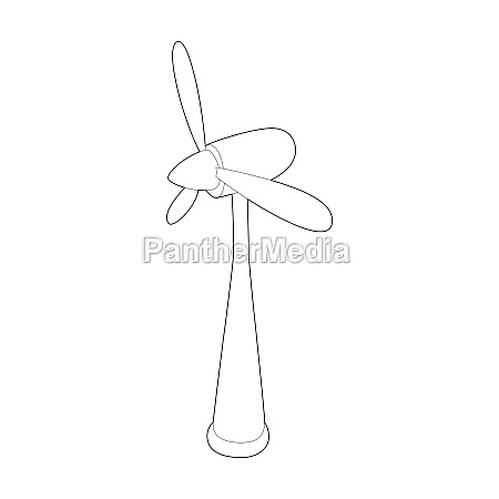 wind turbine icon outline style