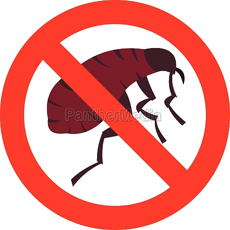 no flea icon in flat style