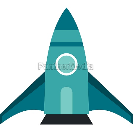 spaceship icon in flat style