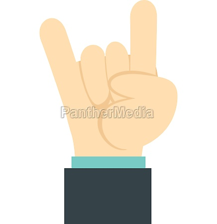 gesture rock musician icon flat style