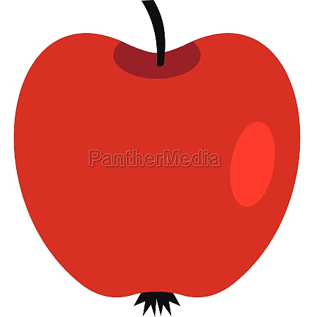red apple icon flat style