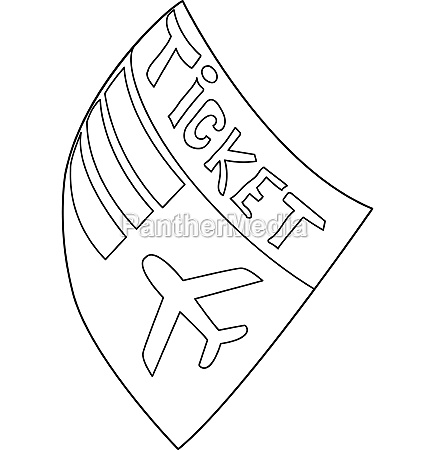 airline ticket icon outline style