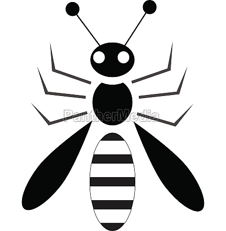 bee icon in simple style