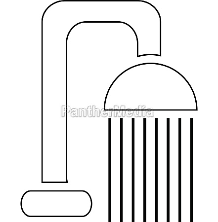 shower spray icon outline style