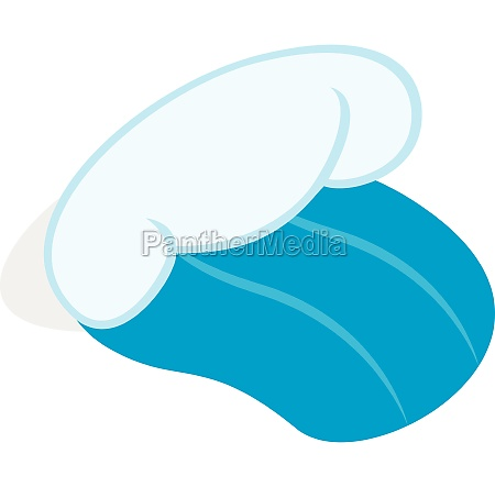 ocean or sea wave icon isometric