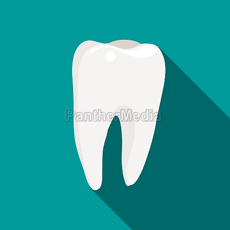 tooth icon flat style
