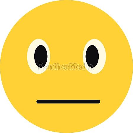 calm smiley icon flat style