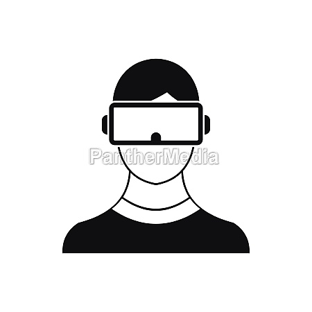virtual 3d reality goggles icon simple