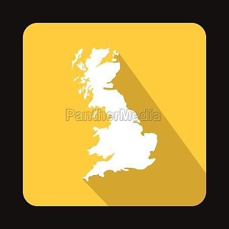 white map of united kingdom icon
