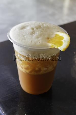 orange juice and espresso or black