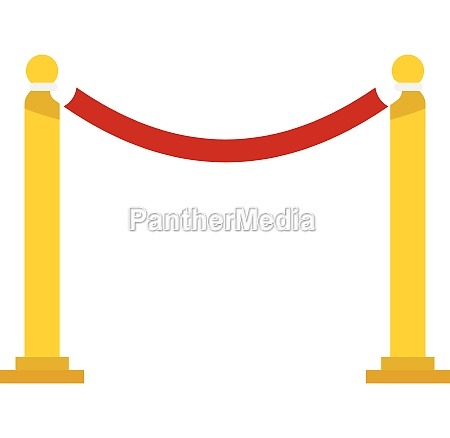 barrier rope icon flat style