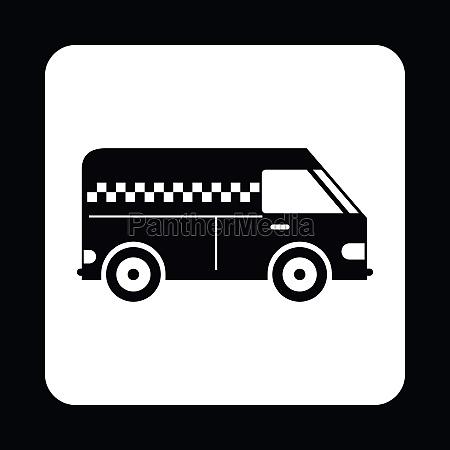 minibus taxi icon simple style