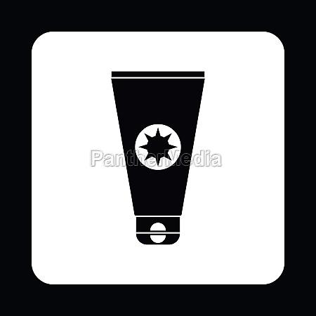 cream sun protection icon simple style