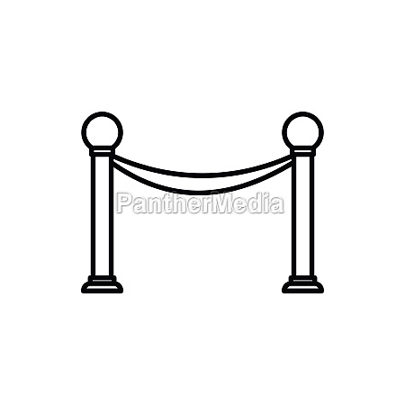 barrier rope icon outline style