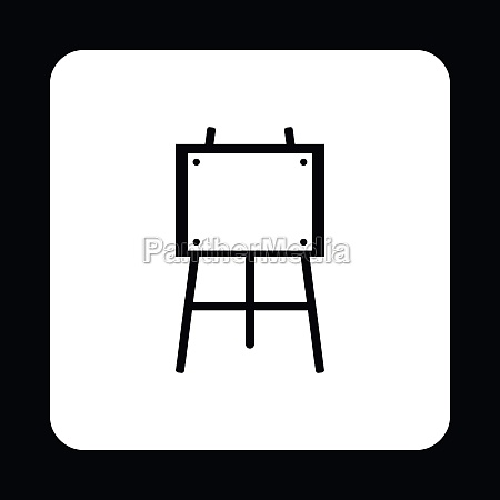 easel icon in simple style