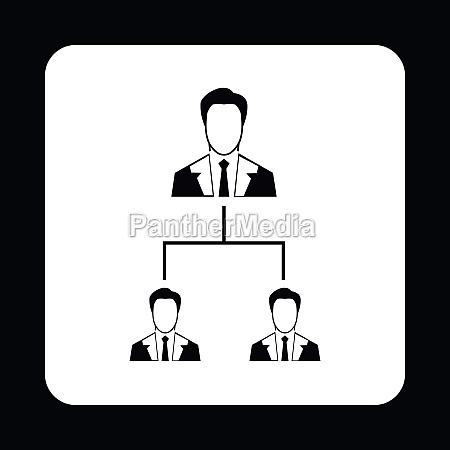 company structure icon simple style