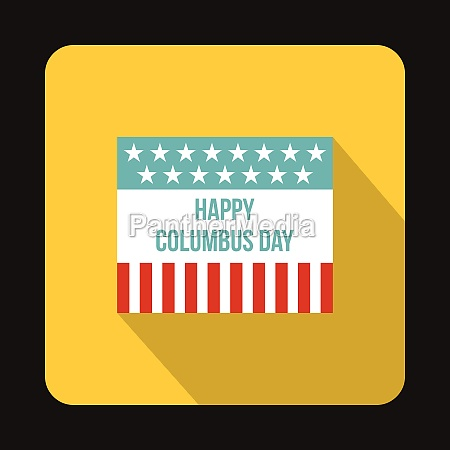 flag for columbus day icon flat