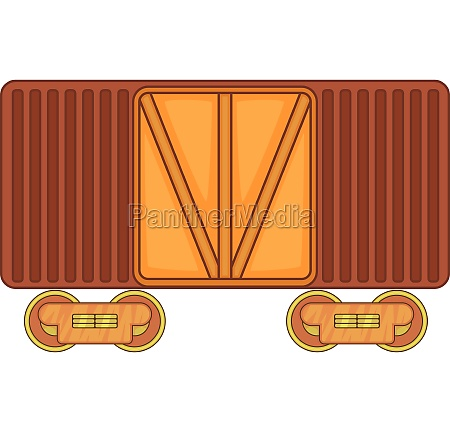 freight train icon cartoon style