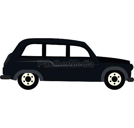retro car icon flat style