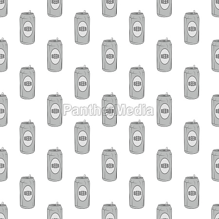 aluminum beer seamless pattern